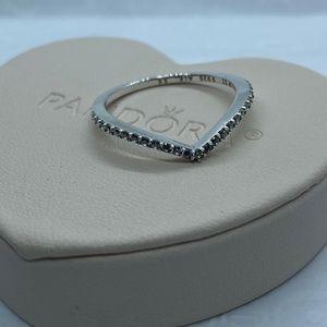 Sparkling Wishbone Ring Size 56 EU/ 7.5 US